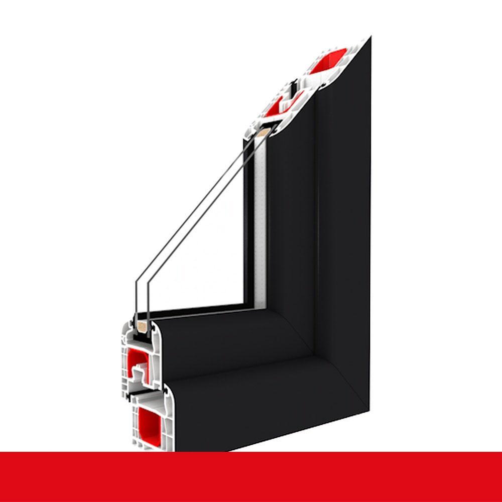 Dreifach Verglaste Fenster kunststofffenster anthrazitgrau glatt dreh kipp 2 fach 3 fach