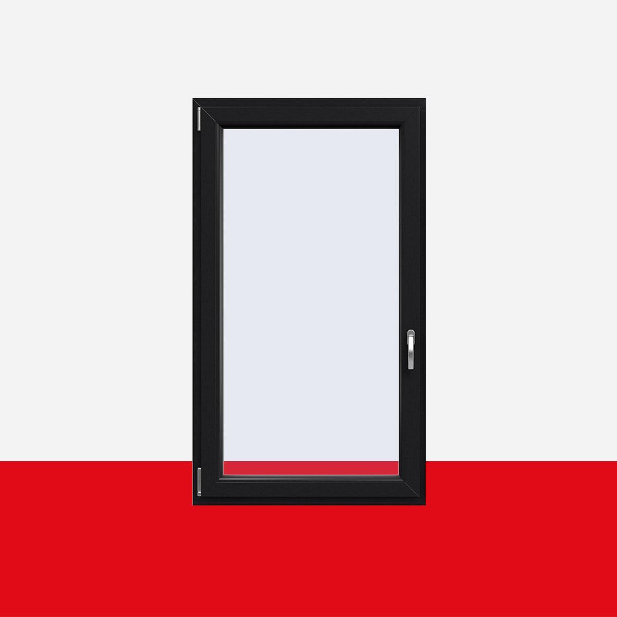 Graue Kunststofffenster kunststofffenster anthrazitgrau glatt innen und außen dreh kipp