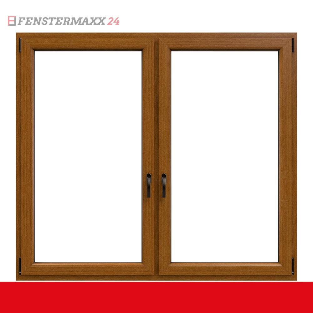 2 fl gliges kunststofffenster streifen douglasie innen und au en dreh kipp dreh kipp mit. Black Bedroom Furniture Sets. Home Design Ideas