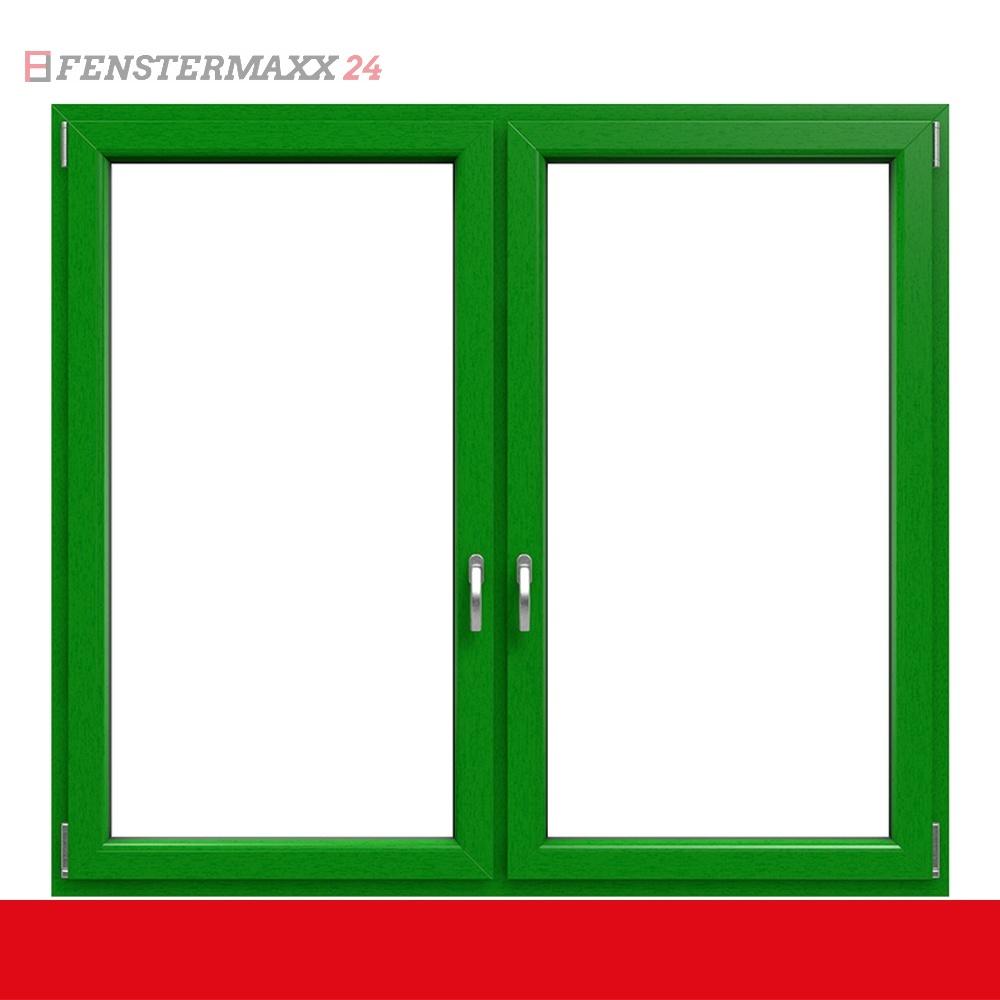 2 fl gliges kunststofffenster smaragdgr n innen und au en dreh kipp dreh kipp mit pfosten. Black Bedroom Furniture Sets. Home Design Ideas