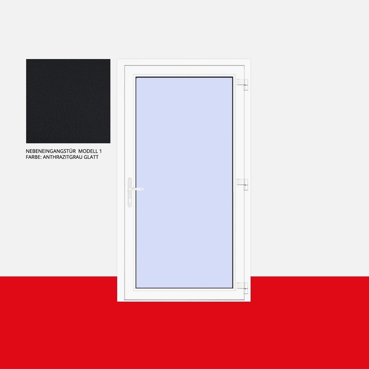 Nebeneingangstür Modell 1 Anthrazitgrau Glatt