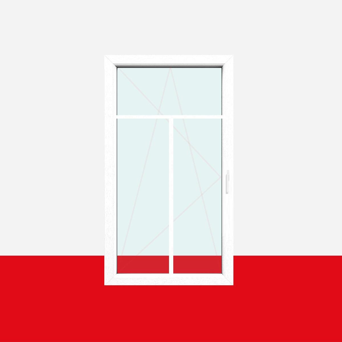 Fenster mit t sprossen  Sprossenfenster Typ 3 Felder Weiß 18mm T-Sprosse 1 flg Dreh-Kipp ...