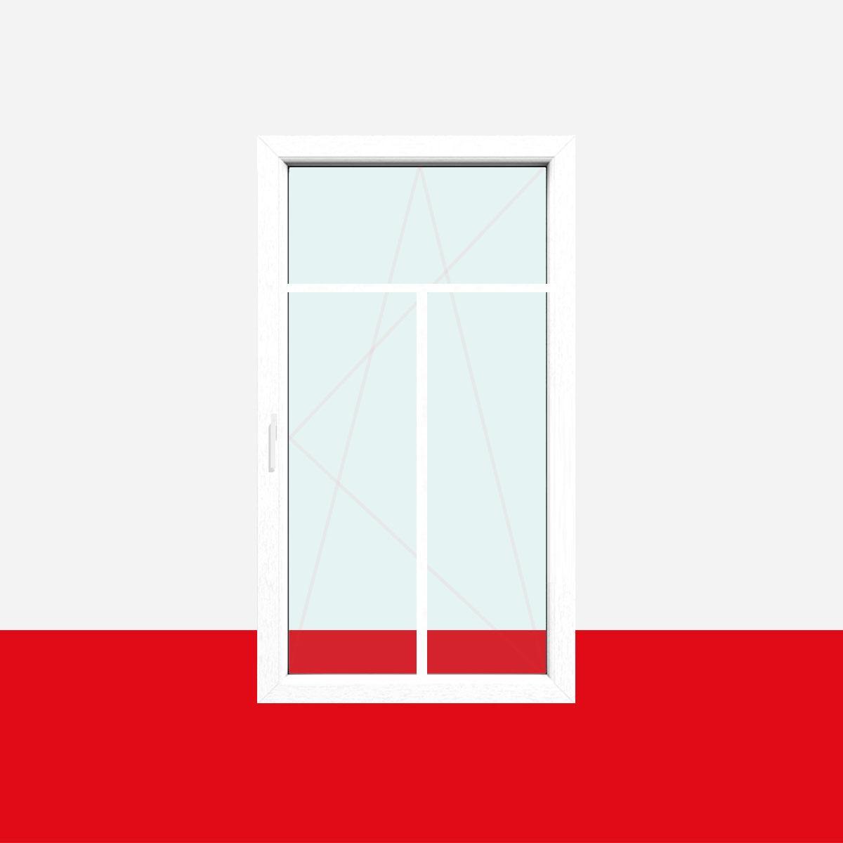 Sprossenfenster typ 3 felder wei 18mm t sprosse 1 flg for Kunststofffenster mit rolladen