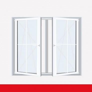 Sprossenfenster typ 4 felder wei 2 flg dk dk kunststofffenster 8mm kreuzspross ebay - Sprossenfenster innenliegende sprossen ...