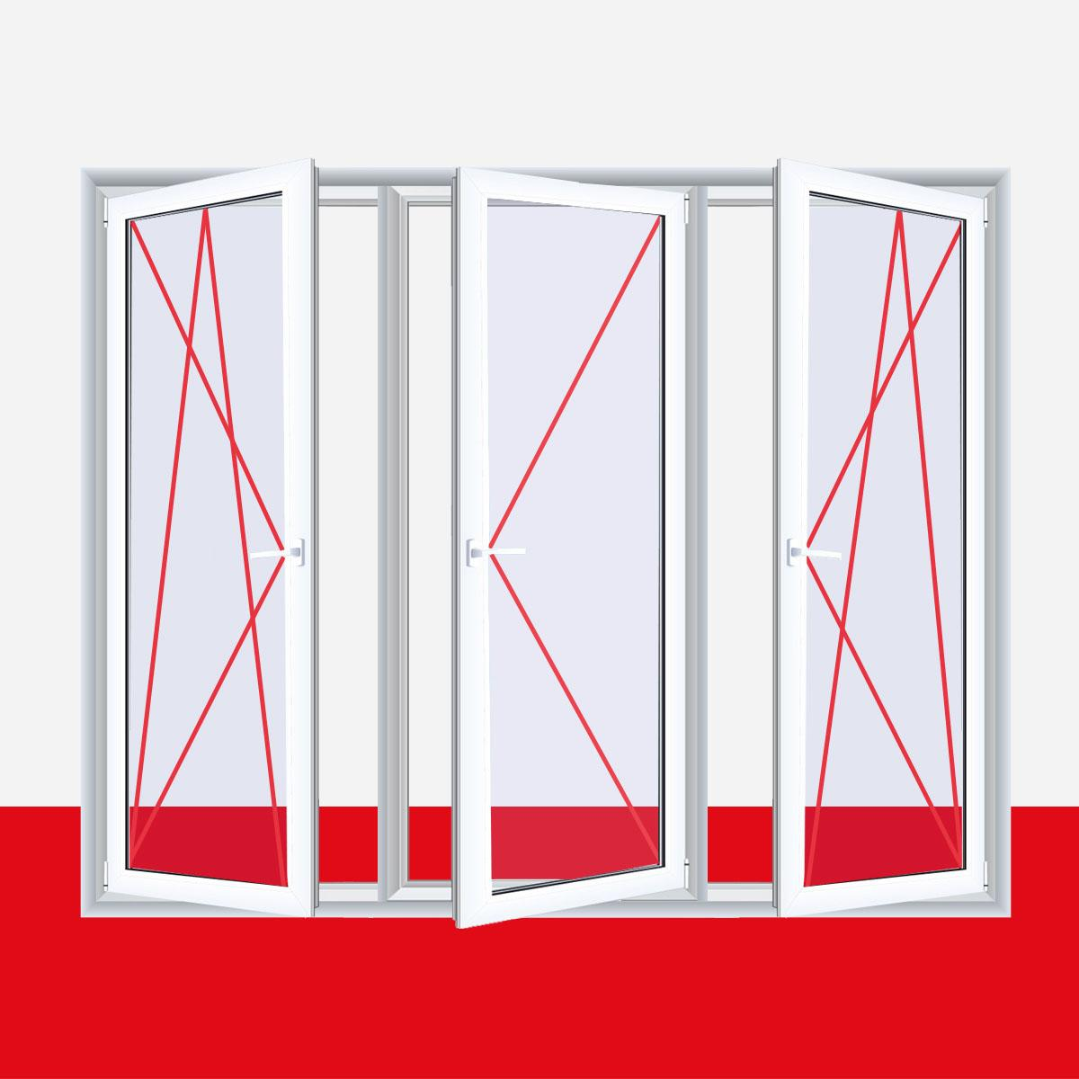 fenster silvit wei 3 flg dreh kipp dreh dreh kipp kunststofffenster. Black Bedroom Furniture Sets. Home Design Ideas