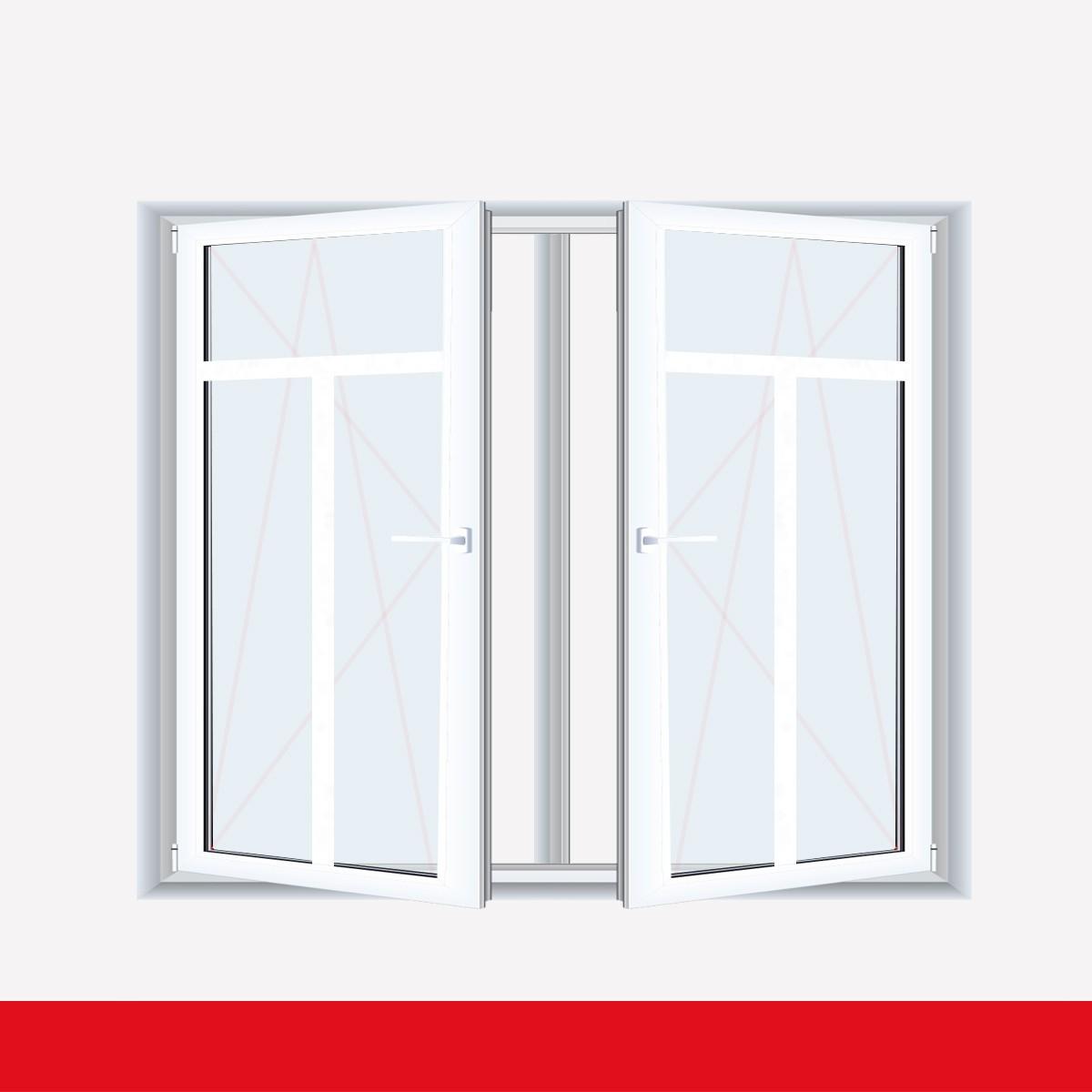 Fenster mit t sprossen  Sprossenfenster Typ 3 Felder Weiß 2 flg. DK-DK Kunststofffenster ...