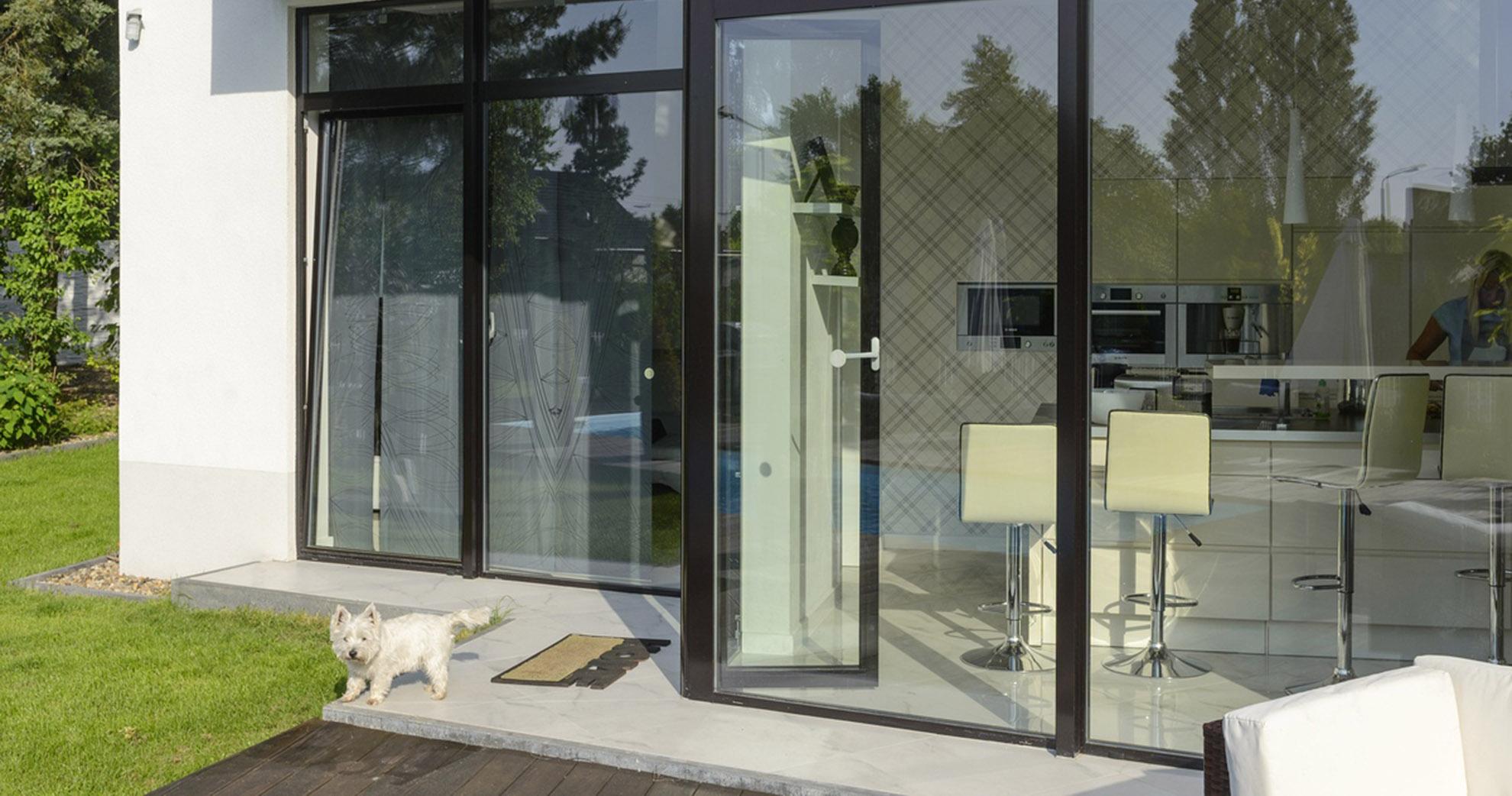 Aluminium Fenster und Türen MB-45, kaltes System ohne Dämmung