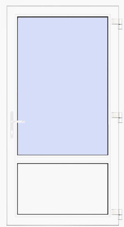 nebeneingangst r aus kunststoff pvc. Black Bedroom Furniture Sets. Home Design Ideas